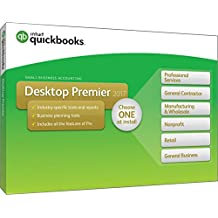 QuickBooks Desktop Premier 2017 with Industry Editions Small Business Accounting Software [Old Version]