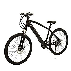 "HLEZ 27.5"" Electric Mountain Bike, Electric Bike Adult 250W 36V 9.6Ah Lithium Battery 7 Speeds Beach Cruiser Sports Mountain Bikes Full Suspension e Bike for Adults"