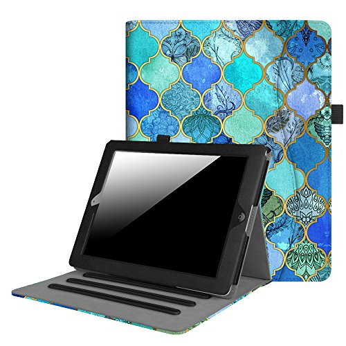 Fintie iPad 2/3/4 Case [Corner Protection] - [Multi-Angle Viewing] Folio Smart Stand Cover with Pocket, Auto Sleep/Wake for Apple iPad 2, iPad 3 & iPad 4th Gen with Retina Display, Cool Jade