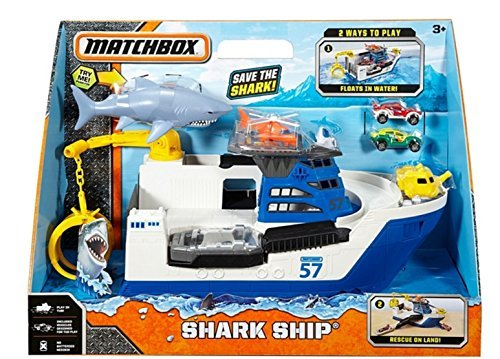 Land Ship (Matchbox Shark Ship Floats in Water and Rescue on Land)