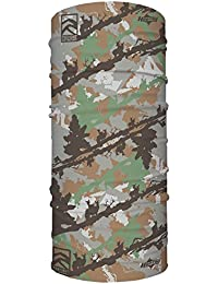 Camo Multi-Use Seamless UPF 30 High Performance Moisture Wicking Bandana Made of 100% Polyester Microfiber by Hoo-rag®