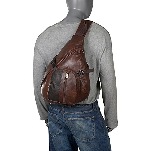 Amazon.com: AmeriLeather APC Leather Cross Body Sling Bag (Black ...