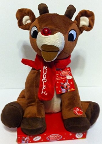 "RUDOLPH THE RED NOSED REINDEER Musical/Animated/Light-Up 13"" Plush (Limited Edition)"