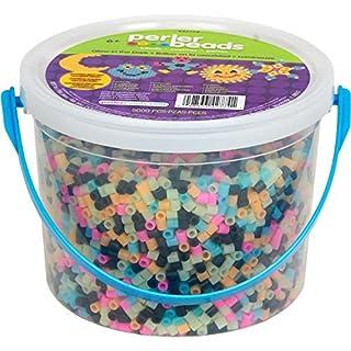 Perler Beads Glow in The Dark Multicolor Fuse Bead Bucket
