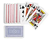 Playo Playing Cards - 12 Packs - 12 Decks of Playing Cards in Blue And Red Printed Box - Individual Packing For Party Favors, Christmas Gifts.
