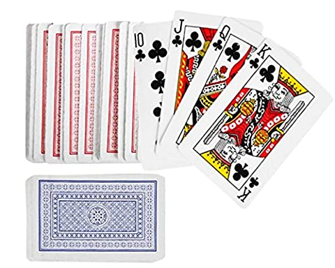 Playo Playing Cards - 12 Packs - 12 Decks of Playing Cards in Blue And Red Printed Box - Individual Packing For Party Favors, Christmas - Price Printed Gift Boxes