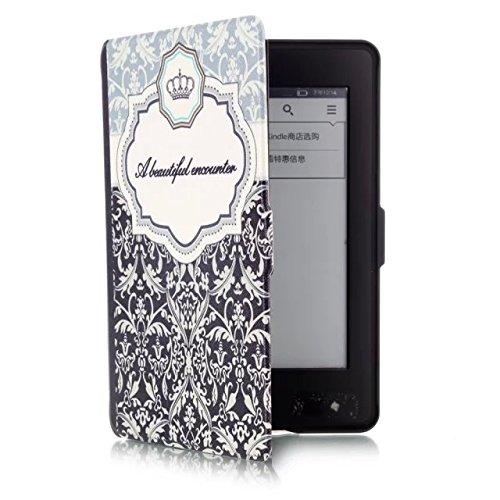 ProElite Designer Smart Flip Case Cover for Amazon Kindle 6 #34; Glare Free Touchscreen Display, Wi Fi ereader  7th Generation, 2014   Sleep/Wake  Des
