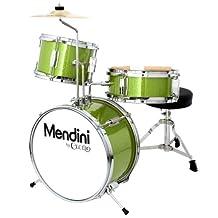 Mendini 3-Piece 13-Inch Junior Drum Set, Metallic Green - MJDS-1-GN