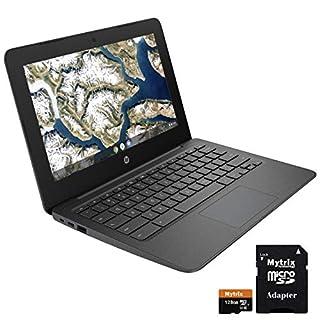 """HP Chromebook 11.6"""" WLED Display, Intel Celeron N3350 up to 2.40 GHz, 4GB RAM, 32GB eMMC w/ 128GB Mytrix SD Card, USB-C, WiFi, Bluetooth, Webcam, Chrome OS"""