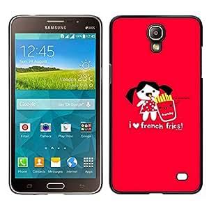 Caucho caso de Shell duro de la cubierta de accesorios de protección BY RAYDREAMMM - Samsung Galaxy Mega 2 - El amor no deseado divertido Corazón Alimentos rojo de la historieta