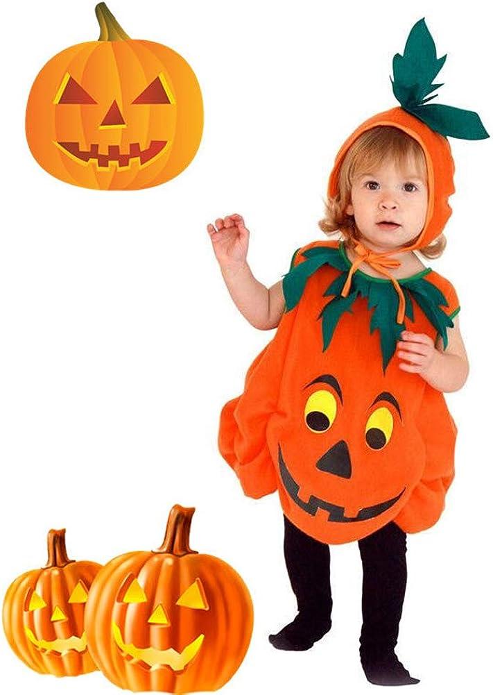 Cuteboom Kid Halloween Costume Pumpkin Clothes