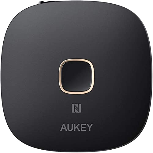 AUKEY Receiver Bluetooth 5, NFC-Enabled Wireless Audio Music Adapter with Hands-Free Calling for Home and Car Audio System
