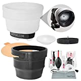 Gary Fong Lightsphere Collapsible Diffuser + SnootSkin Insert Kit + Xpix Deluxe Cleaning Kit