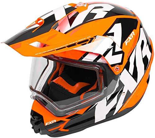 FXR Torque X Core Helmet With Electric Shield 2018 Black/Orange/White - 16 Snowmobile Helmet