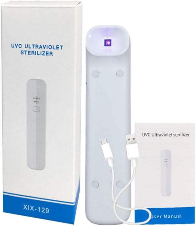 Dyale UV Light Sanitizer UV Sanitizer lamp,Rechargeable Ultraviolet Sterilization Stick,Easy to Carry Handheld Sterilization Stick