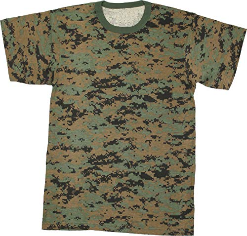Military Camouflage T-Shirt Army Fashion Color Camo Crewneck Tee Short Sleeve Top with ArmyUniverse Pin (XXXX-Large / 57