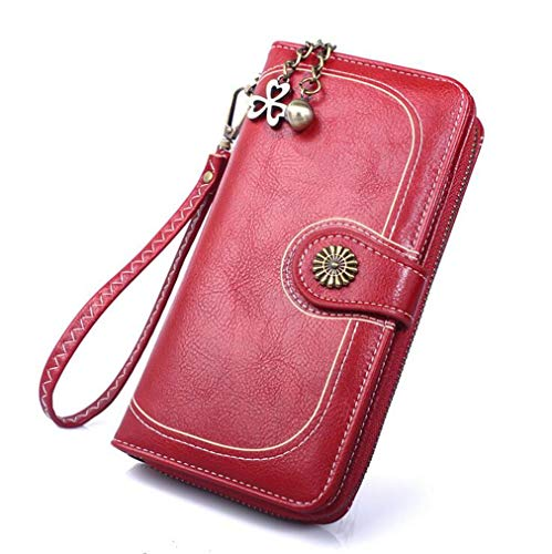 Amazon.com: Womens Zipper Hand Wallet Change Mobile Phone ...
