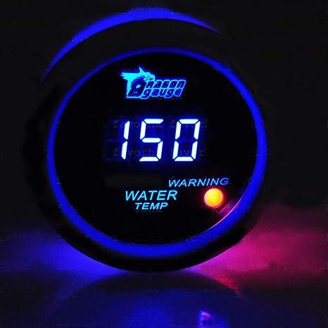 Black 52mm Blue Digital LED Electronic Volt Gauge Meter For Car Motorcycle