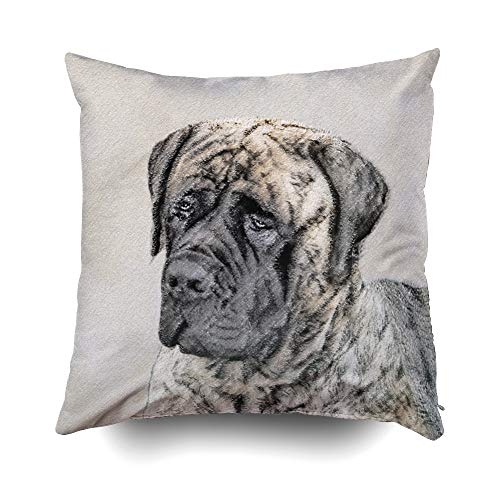 tiff Brindle Cushions Case Throw Pillow Cover for Sofa Home Decorative Pillowslip Gift Ideas Household Pillowcase Zippered Pillow Covers 16X16Inch ()