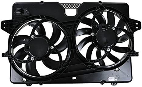 AC Condenser Radiator New Dual Cooling Fan Fits 08-11 Mercury for Mariner 3.0L