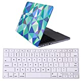 "HDE Designer Art Pattern Hard Shell Case Snap Protective Cover + Keyboard Skin for Macbook Pro 13"" with Retina Display - Fits Model A1425 / A1502 (Geo Triangles)"