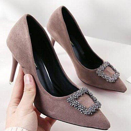 Chaussures Femmes Cour Night Hauts Boucle Club Sash 5cm Travail UK Noir 5 Party Medium Mode 4 Talons Mariage Chaussures 37 EU 8 Brown Sexy De Femme a6v0YnfWY