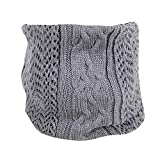 Toaimy Scarves Men'S And Women'S Knitted Wool Single-Loop Collar