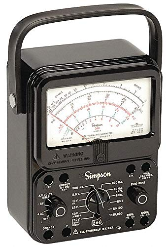 Analog Multimeter, 1000V, 10A, 20M Ohms by Simpson Electric (Image #1)