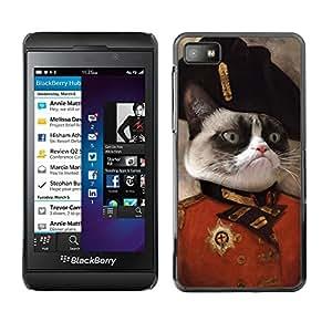 TECHCASE**Cubierta de la caja de protección la piel dura para el ** Blackberry Z10 ** Cat Angry Face Siamese Pink Nose General Art