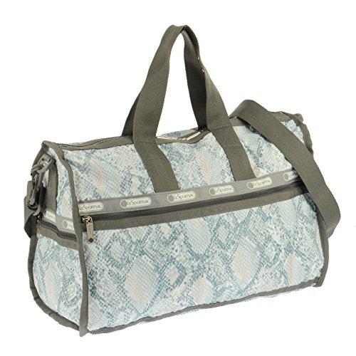 LeSportsac Medium Weekender Duffel Bag (Aqua Snake)