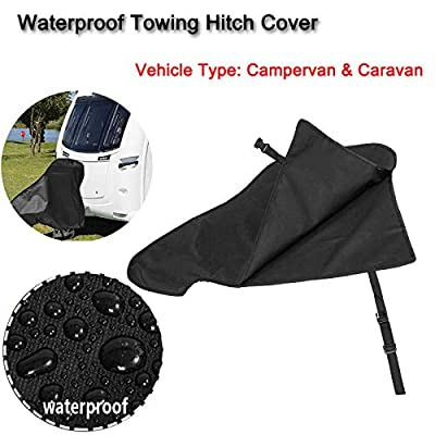 Caravan Hitch Cover,Universal Waterproof Breathable Tow Hitch Cover Tongue Jack Cover PVC Trailer Tow Ball Coupling Lock: Automotive