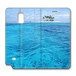 Scenic Spot Design Leather Case for Samsung Note 4 Blue Sea