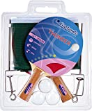Garlando Thunder Plus Table Tennis Accessory Set (2 Rackets/Paddles, 3 Balls, Net and Posts)