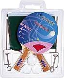 Garlando Thunder Plus Table Tennis Accessory Set (2 Rackets/Paddles, 3 Balls, Net and Posts)