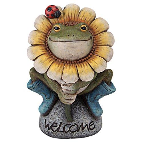 Design Toscano Flowery Frog Garden Welcome Statue