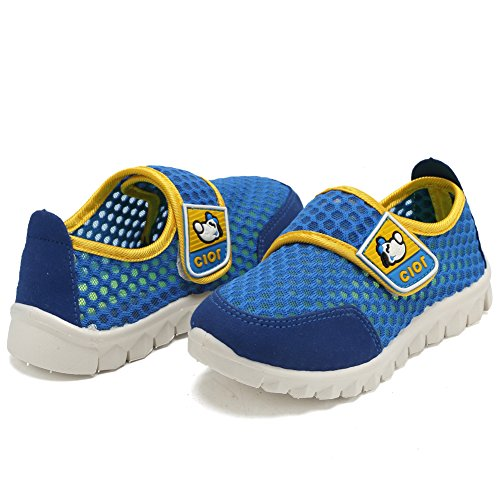 CIOR Kid's Mesh Lightweight Sneakers Baby Breathable Slip-On For Boy and Girl's Running Beach Shoes(Toddler/Little Kid) 21