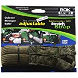 ROK Straps NEW Camo 2-pk Stretch Tie Downs 18''-60'' Motorcycle Adjustable Straps