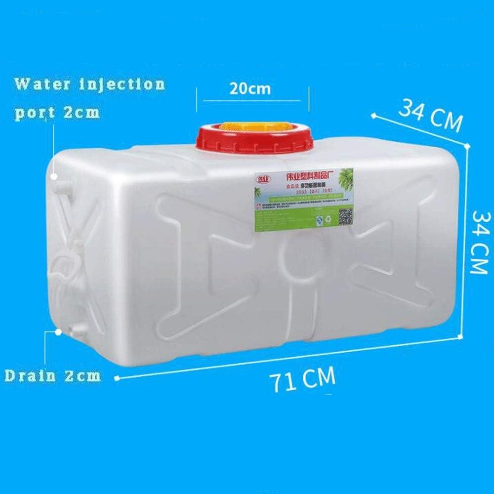 Size : 30L no brand Q-L Qualit/é Alimentaire des M/énages Couvercle De R/éservoir en Plastique Rectangulaire R/éservoir Externe /Épaissie Horizontal Cuve deau Blanche