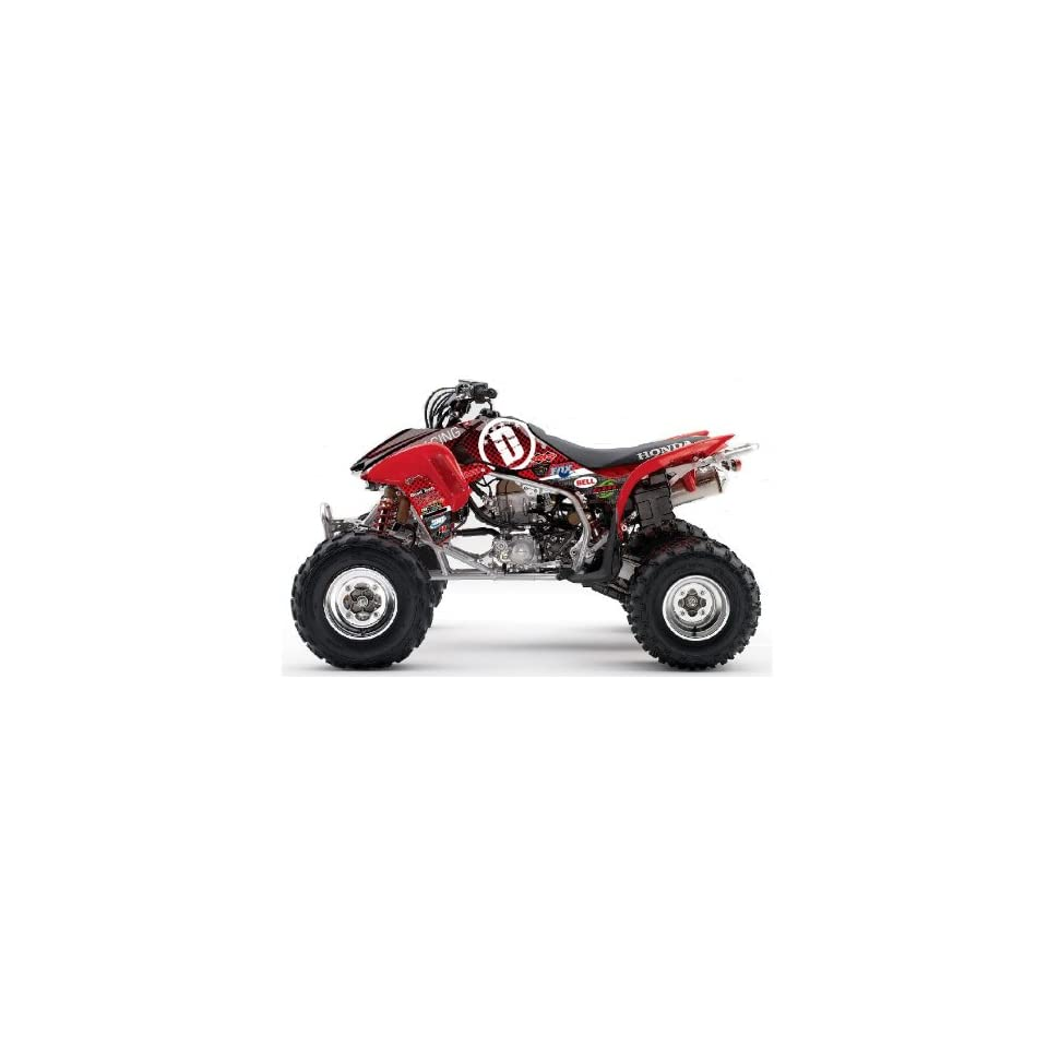 Honda TRX450R DeRisi Racing ATV Graphic Kit (Red) (2004 2012)