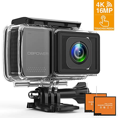 DBPOWER EX7000 PRO 4K Action Camera 2.45' LCD Touchscreen Underwater Camera with 16MP Sony Image...