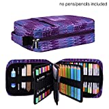 Pencil Case Holder Slot - Holds 202 Colored Pencils or 136 Gel Pens with Zipper Closure - Large Capacity Pen Organizer for Watercolor Pens & Markers | Perfect Gift for Students & Artist purple