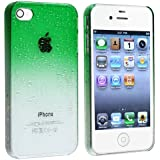 Snap-on Case compatible with Apple iPhone 4 / 4S , Clear Green Waterdrop
