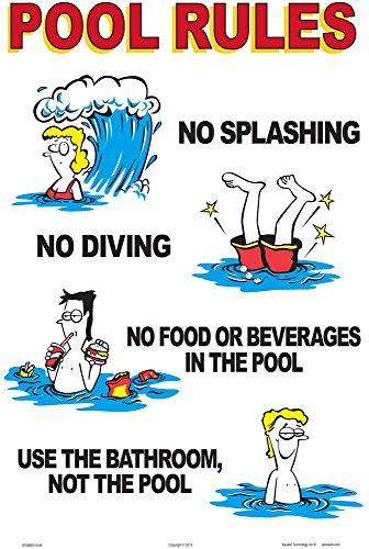 Aquatic Technology, Inc. Pool Rules (Humor) Sign