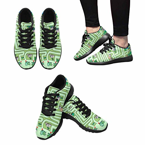 InterestPrint Womens Jogging Running Sneaker Lightweight Go Easy Walking Comfort Sports Athletic Shoes Maze Of Furtle Multi 1 yk3S0xuf