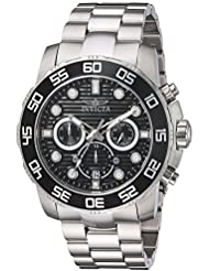 Invicta Mens Pro Diver Quartz Stainless Steel Casual Watch, Color:Silver-Toned (Model: 22226)