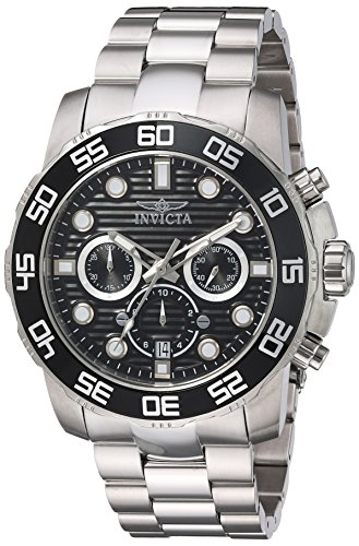 - Invicta Men's Pro Diver Quartz Watch with Stainless-Steel Strap, Silver, 26 (Model: 22226)