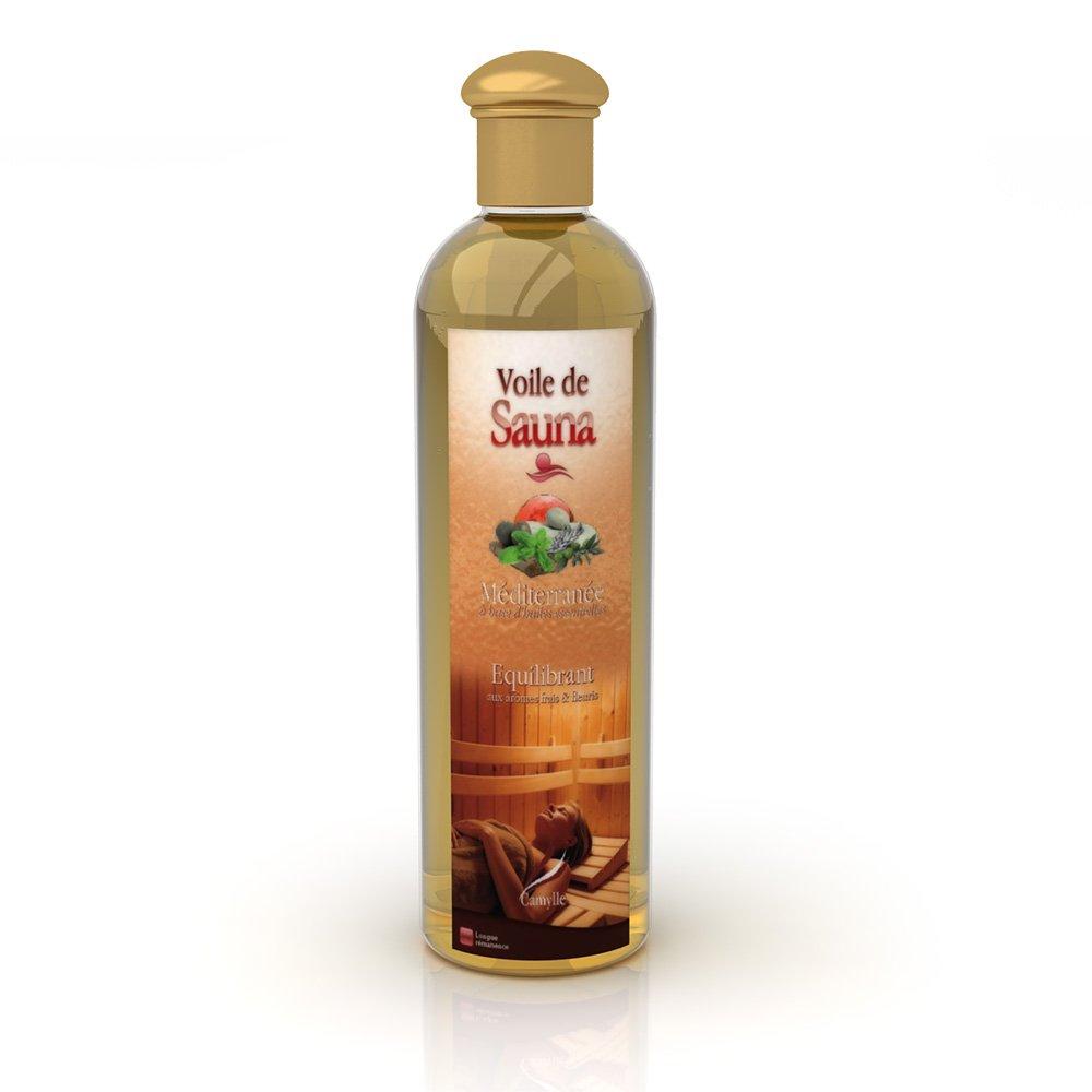 Camylle - Voile de Sauna - Solution à base d'huiles essentielles pour sauna – Méditerrannée - Equilibrant – 250ml