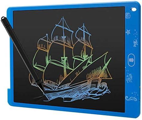 LKJASDHL 12インチLCD手書きバージョンLcd光エネルギー黒板電子子供手描きプレートカラーペンボードLcdライティングタブレット (色 : 青)