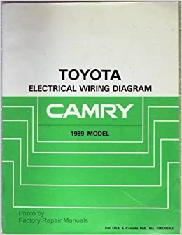 1989       Toyota       Camry    Electrical Wiring    Diagram    Manual     Toyota