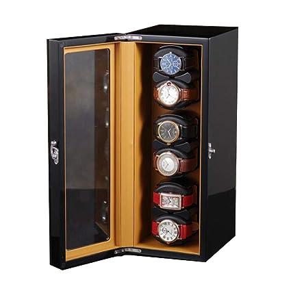 YZ-YUAN Cajas giratorias Relojes Enrollador de Reloj de 6 + 0 de pie Mute